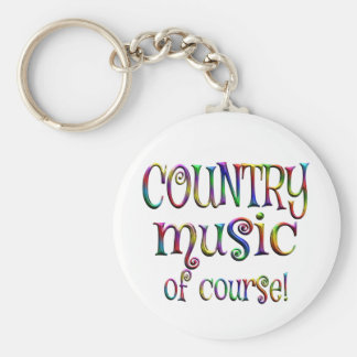 Country Music of Course Basic Round Button Keychain