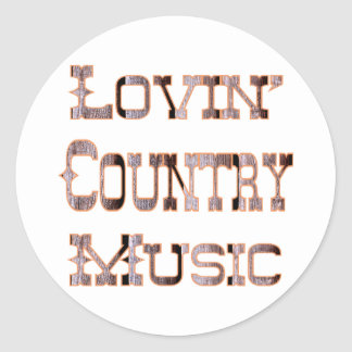 Country Music Round Sticker