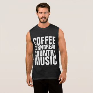 COUNTRY MUSIC T-shirts, COFFEE CORNBREAD Sleeveless Shirt