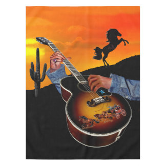 COUNTRY MUSIC TABLECLOTH