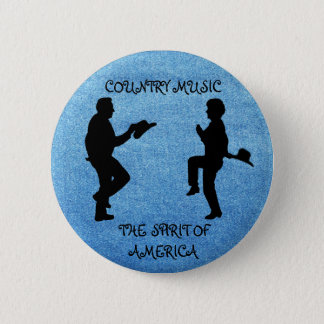 COUNTRY MUSIC THE SPIRIT OF AMERICA-BUTTON 2 INCH ROUND BUTTON