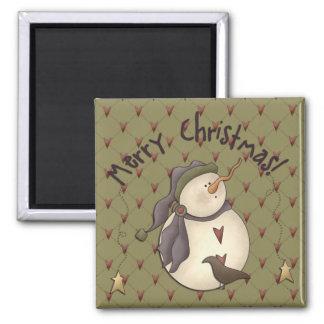 Country Nowel Christmas Magnet