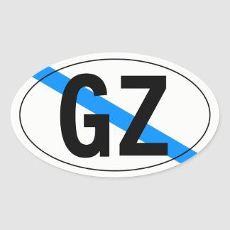 """country"" of Galicia Oval Sticker"