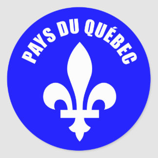 Country of Quebec (self-adhesive) Classic Round Sticker