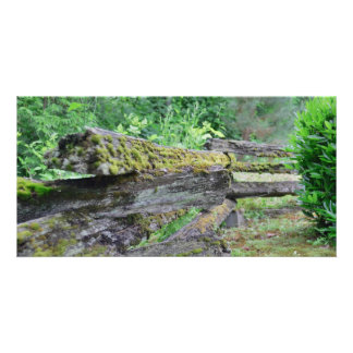 Country - Old log fence Personalized Photo Card