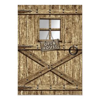 COUNTRY OPEN HOUSE INVITATION - RUSTIC DOOR