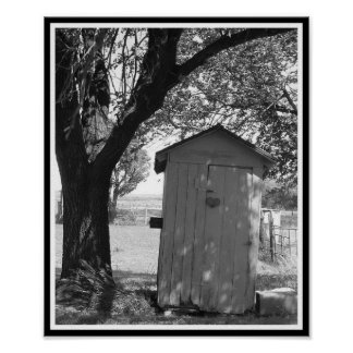 Country Outhouse Poster