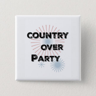 Country Over Party 2 Inch Square Button