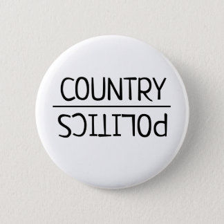 Country Over Politics Bipartisan Button