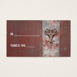 Country Painted Wood Keys Wedding Place Cards
