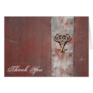 Country Painted Wood Skeleton Keys Thank You Card