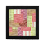 Country Patchwork Chic Pattern Quiltblocks Jewelry Boxes