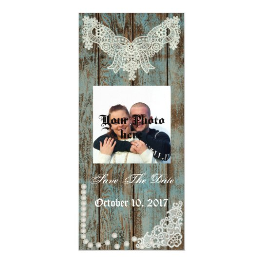 Country Pearls & Lace Save The Date Magnet Magnetic Invitations