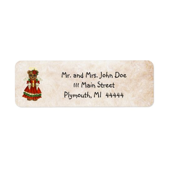 Country Pine Christmas Address Label