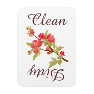 Country Pink Tree Blossoms Dishwasher Magnet