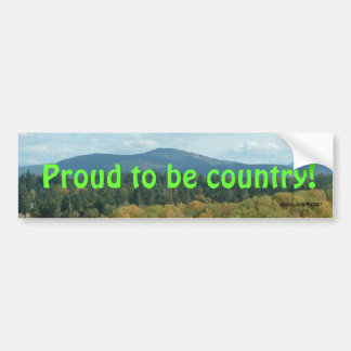 Country Pride Bumper Sticker