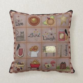 Country Prim Art Sampler Pillow