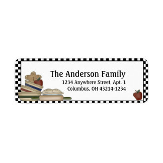 Country Prim Kitchen Return Address Labels