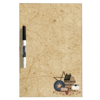 Country Primitive Decorations Dry Erase Board