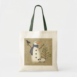 Country Primitive Snowman Bag
