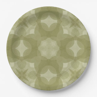 """""""Country Print"""" Sage 9 Inch Paper Plate"""