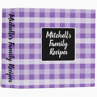 Country Purple Plaid 3 Ring Binders