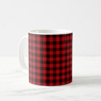 Country red and black plaid coffee mug