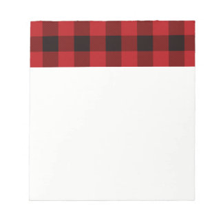 Country red and black plaid notepad