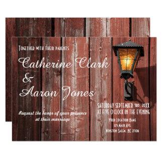 Country Red Barn Wedding - Invitation