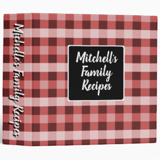Country Red Plaid Binder