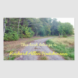 Country Road Bookplate Sticker