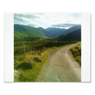 country road in ireland. photo print