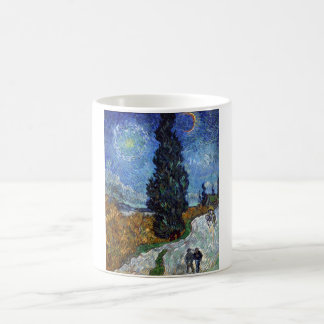 Country Road in Provence by Night Classic White Coffee Mug