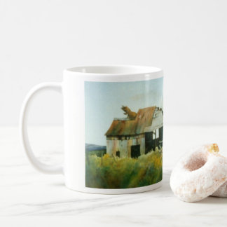 Country Road Mug rural large barn shed silo field