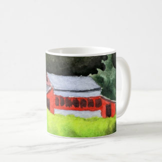 Country Road Mug rural large red barn green field