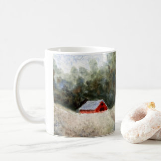 Country Road Mug rural little red barn in field