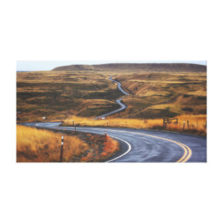 Country Road near Mountain | Highway | Plain Canvas Print