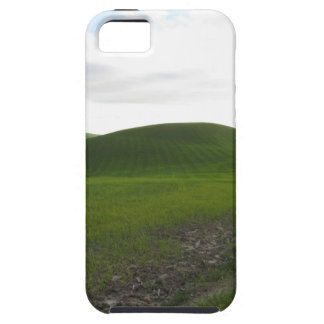 Country road over rolling green hills and valleys iPhone 5 case