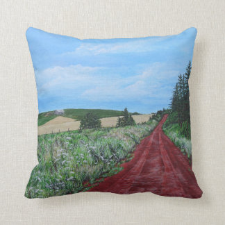 Country Road, PEI Throw Pillow