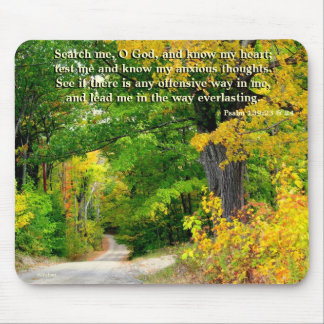 Country Road Scripture Mouse Pad