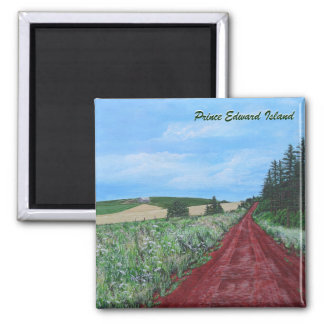 Country Road Square Magnet
