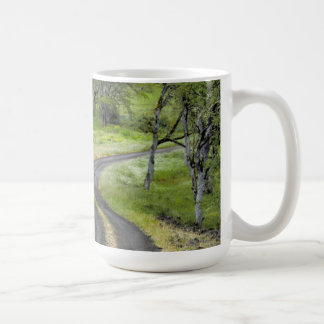 Country road through trees, Oregon Coffee Mug
