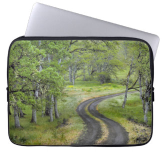 Country road through trees, Oregon Laptop Sleeve