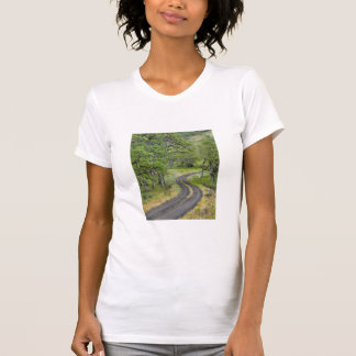 Country road through trees, Oregon T-Shirt