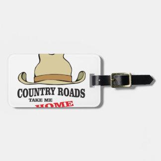 country roads take me home dude bag tag