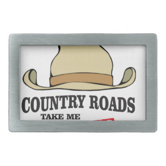 country roads take me home dude rectangular belt buckles