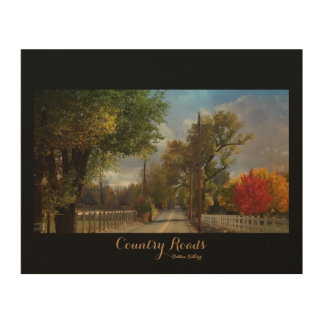 Country Roads Wood Wall Decor