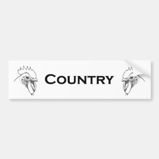 Country Rooster Bumper Sticker