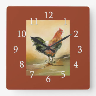 Country Rooster Kitchen Decor Wallclocks