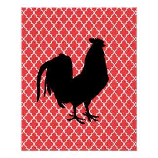 Country Rooster Poster